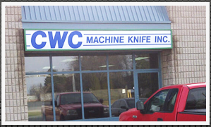C Machine Knife Company Store Front Brantford